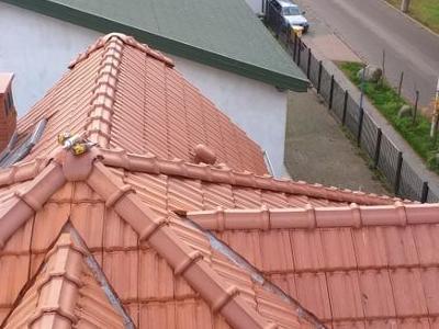 widok dachu w łączeniu gwiaździstym